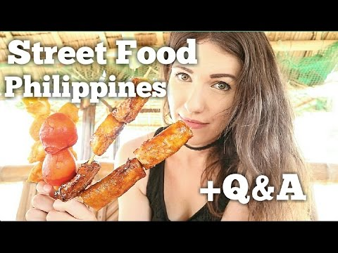 TRYING FILIPINO STREET FOOD & Answering questions Philippines | Vlog