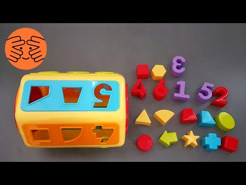 Learn shapes and number for kids with Matching Plastic Toy and Shape Sorter Cognitive