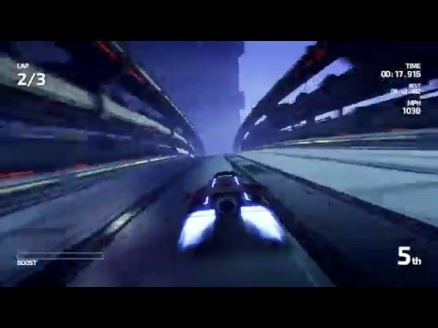 Fast Racing Neo: Chuoku City - Hypersonic (Expert) Mode Gameplay (Direct-Feed Wii U)