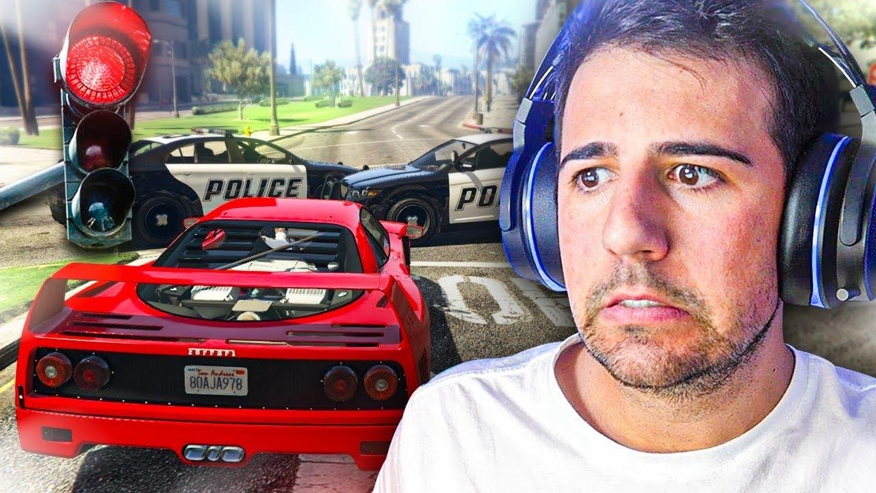 JUEGO GTA 5 SIN ROMPER NINGUNA LEY !! GTA V VIDA REAL  - ElChurches