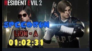 『奶昔』Resident Evil 2 Leon A Speedrun 01:02:31《生化危機2 惡靈古堡2 BIOHAZARD2/Resident Evil2》