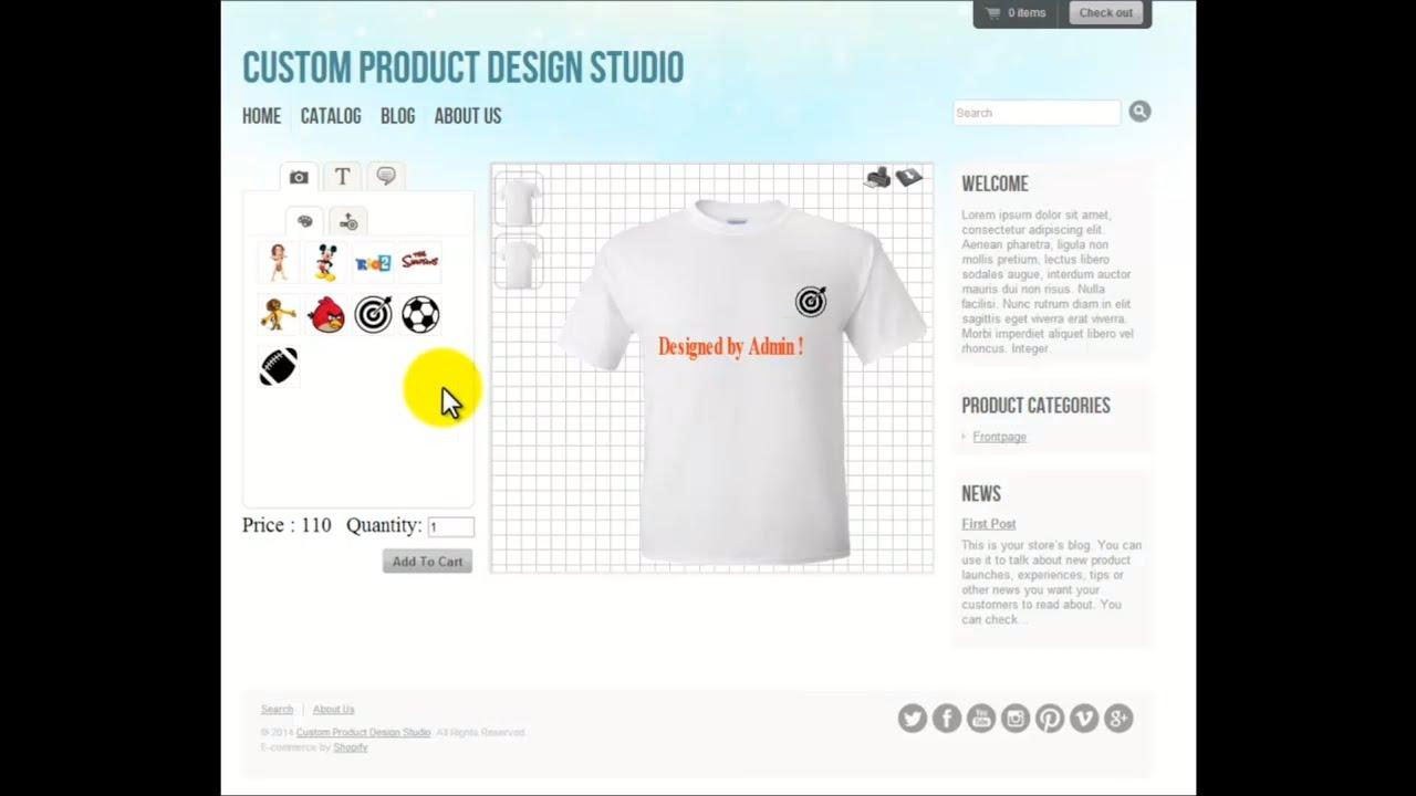 Shirt design maker app - Custom Tshirt Design Product Design Studio For Shopify