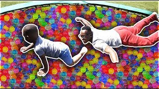 GIANT ORBEEZ TRAMPOLINE CHALLENGE | THE PRINCE FAMILY