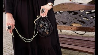 Как сделать вышивку из бисера на сумку.  How to make embroidery