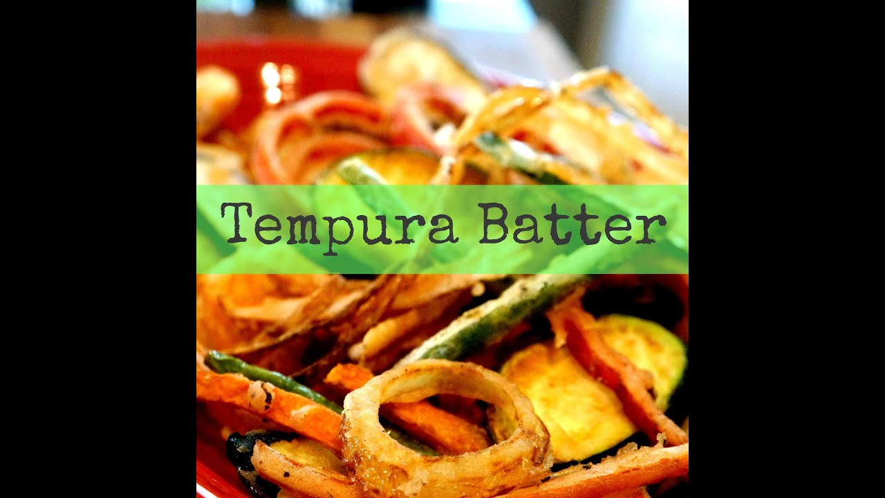 How To Make Tempura Batter Ask Momma Cuisine Youtube