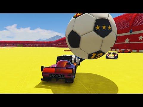 MODDED GTA 5 SOCCER & RACES - GTA 5 Rocket League - GTA 5 MOD