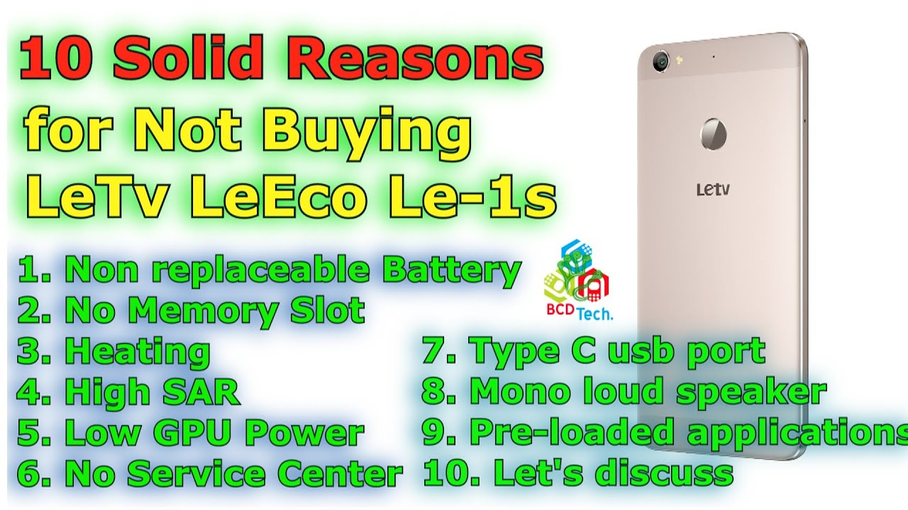 10 Solid Reasons for not buying LeTv LeEco Le-1s