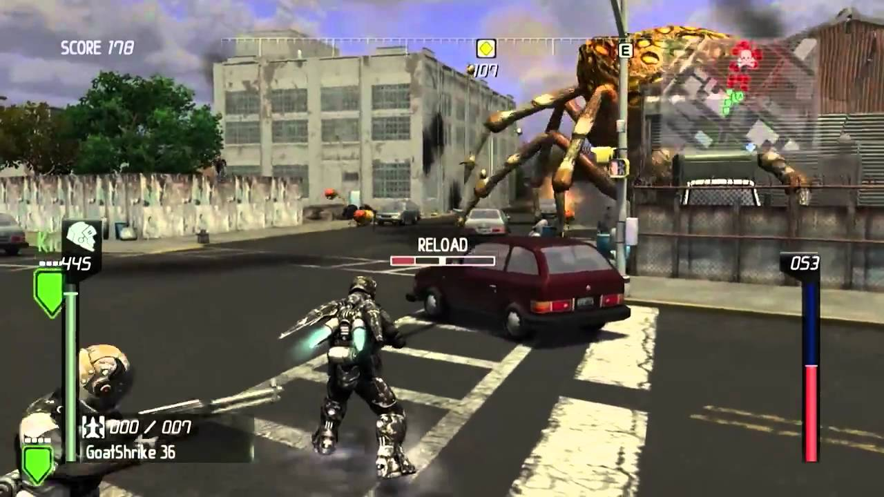 Earth Defense Force: Insect Armageddon Jet Armor gameplay