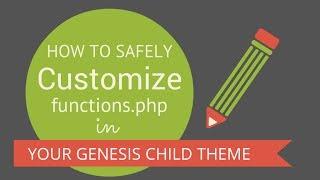 How To Create A Custom functions.php File (Genesis/WordPress) Mp3