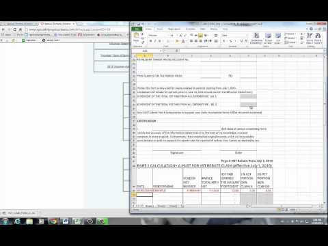 How-To: Filling in the HST Claim Form