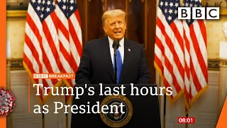 Biden inauguration: Democrat to be sworn in as Trump leaves office 🔴 @BBC News live - BBC