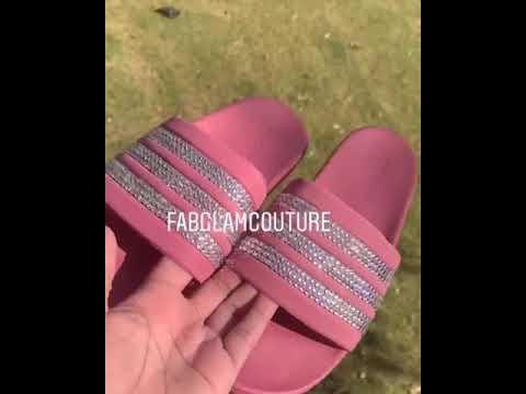 c8becc02cc80e Bling Adidas Slides : @FABGLAMCOUTURE