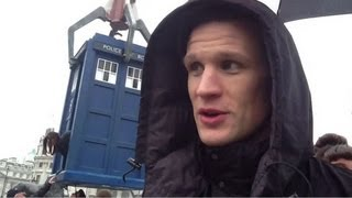 The Doctor at Trafalgar Square - Doctor Who: 50th Anniversary Special - BBC One