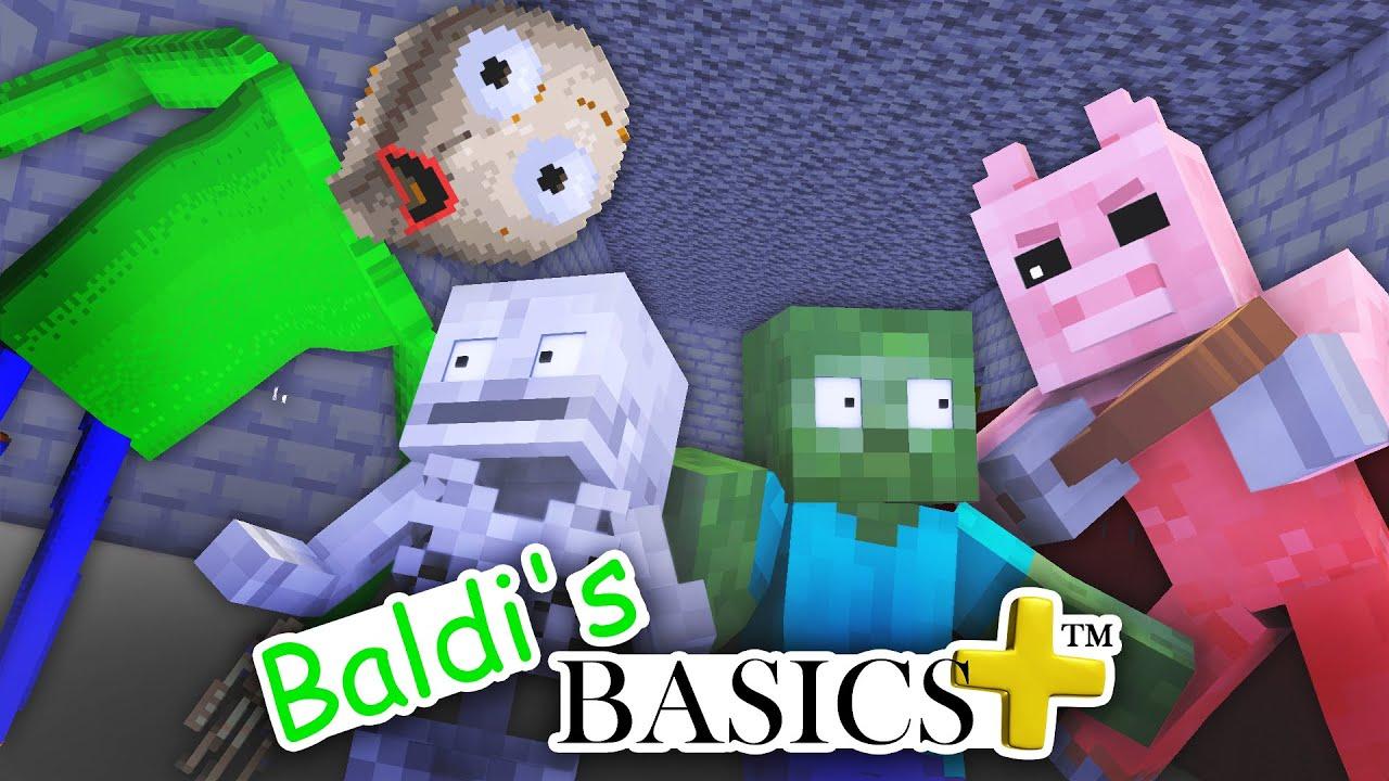 Monster School : Baldi Basic Plus Challenge with Roblox Piggy - Minecraft Animation