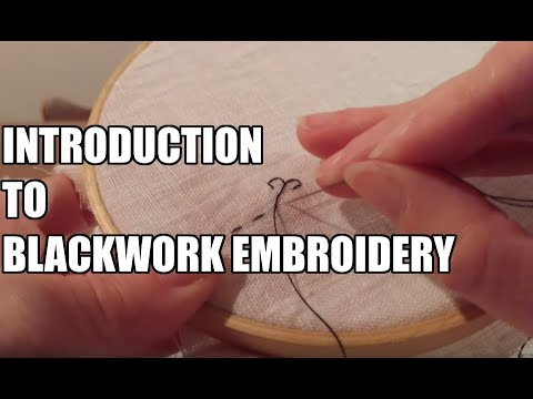 Introduction into Making Blackwork Embroidery
