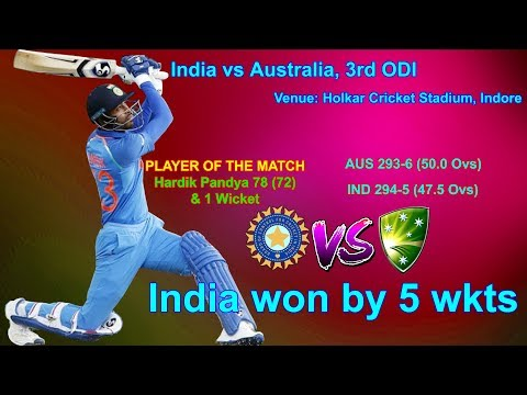 INDIA Vs AUSTRALIA,3rd ODI, Holkar Cricket Stadium, Indore