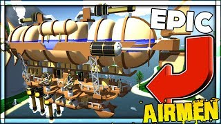 BUILD YOUR OWN AIR BATTLE SHIP AND FIGHT!!! THE MOST EPIC BATTLE SHIP EVER | Airmen