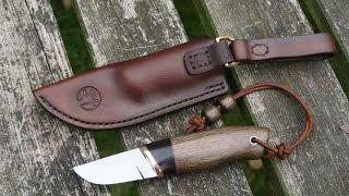 Handmade Leather Knife Sheath, the bog oak knife project
