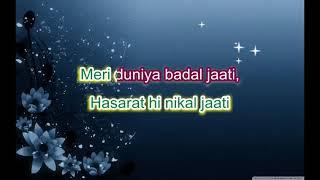 Kahin karti hogi -Phir Miloge Kabhi - Full karaoke Scrolling lyrics