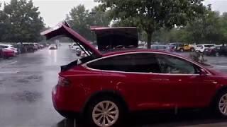 Tesla Model X performance in torrential downpour