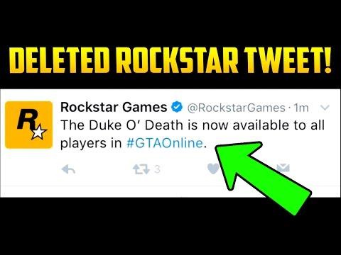 ROCKSTAR'S DELETED TWEET EXPLAINED - DUKE O'DEATH RELEASE COMING SOON!?