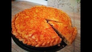 Легко и просто!!! Закрытый пирог из песочного теста с мясом.