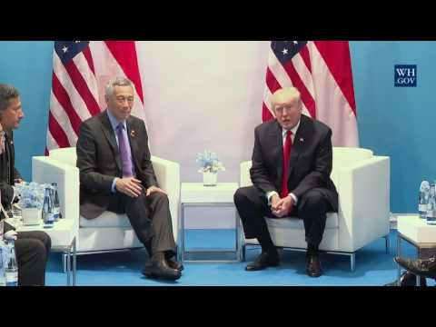 President Trump Participates in an Meeting with the Prime Minister Lee Hsien Loong of Singapore