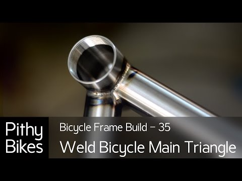 Bicycle Frame Build 35 - Tig Weld Bicycle Main Triangle