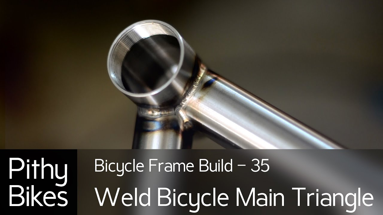 Bicycle Frame Build 35 Tig Weld Bicycle Main Triangle Youtube