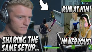 Tfue SURPRISES Corinna Kopf At Her HOUSE & They Try To WIN On Fortnite Using The SAME Setup!