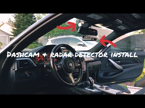 How To Install Dash Cam And Radar Detector On BMW 3 Series And  4 Series