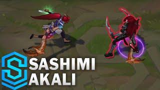 Sashimi Akali Skin Spotlight - Pre-Release - League of Legends