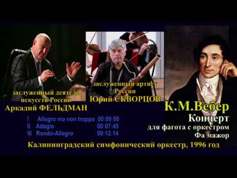 Вебер, Карл Мария фон - Анданте и венгерское рондо для фагота с оркестром