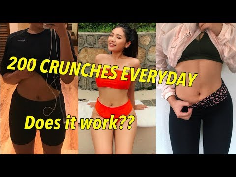 I DID 200 CRUNCHES EVERYDAY FOR A WEEK