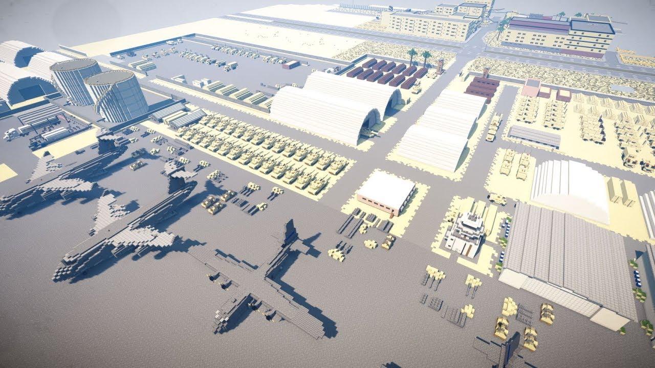Minecraft military base map gizaislamic.