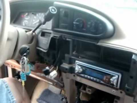 removing and installing a car stereo for a ford aerostar van rh youtube com