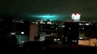 SCARY LIGHTS SEEN OVER MEXICO DURING 8.2 EARTHQUAKE SEPTEMBER 2017