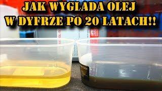 Jak wygląda olej w dyfrze po 20 latach ?? Wymiana oleju w dyfrencjale BMW