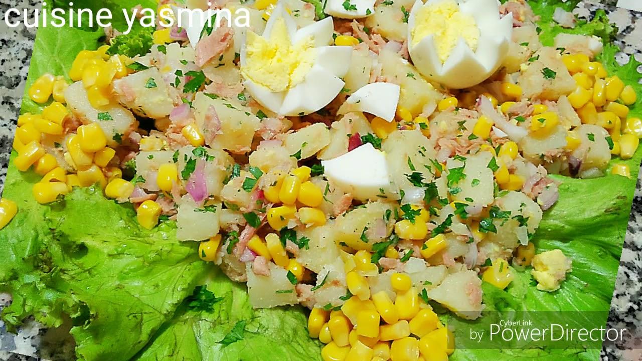 سلطة البطاطس والتونة صيفية لذييذة وصحية 100 تنفع للعشاء والغداء
