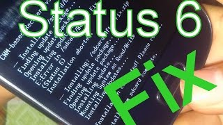 Installation aborted Status 6 Fix Recovery