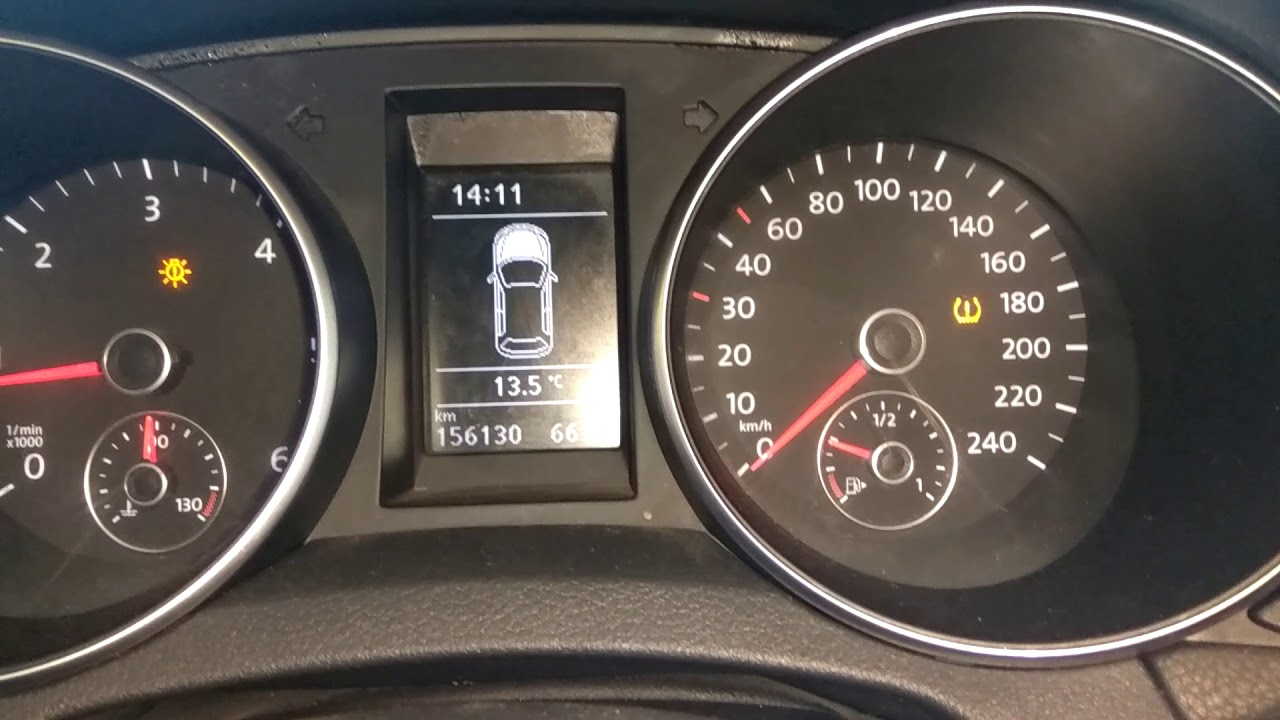 reset voyant pression pneus volswagen golf 6 avec abdellah service auto prog youtube