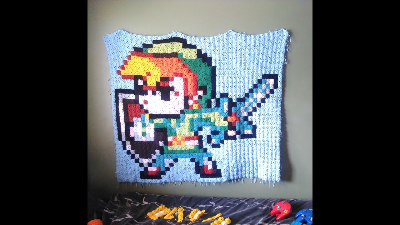 How to make crochet blanket with pixel art part 1 youtube bankloansurffo Images