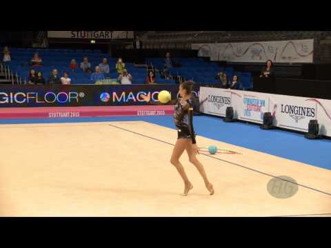Eleonora ROMANOVA (UKR) 2015 Rhythmic Worlds Stuttgart - Qualifications Ball