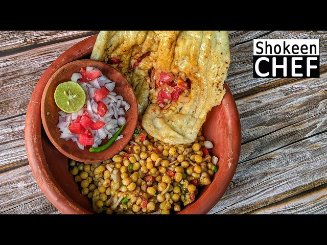 Famous Street Food Chole Matar Kulcha 👉🏾 Matar Chole Kulcha Recipe Must See!