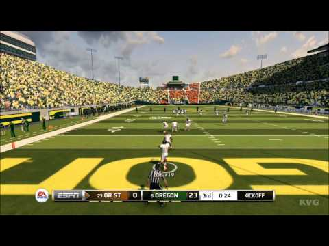 NCAA Football 14 - Oregon Ducks vs. Oregon State Beavers Gameplay [HD]