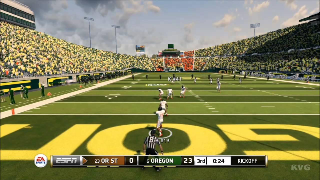 ncaa football 14 oregon ducks vs oregon state beavers gameplay