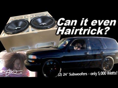 "The ""Skelator"" Box - 2 MASSIVE Sundown 24"" Subwoofers on 5k Watts - Can it even Hairtrick? video 8"