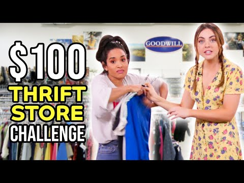Thrift Store CHALLENGE With $100 Budget!!