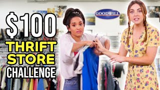Download Thrift Store CHALLENGE with $100 Budget!! Mp3 and Videos