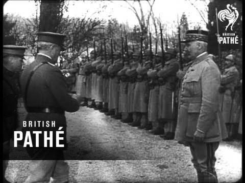 General Pershing Decorates General Petain (1918)
